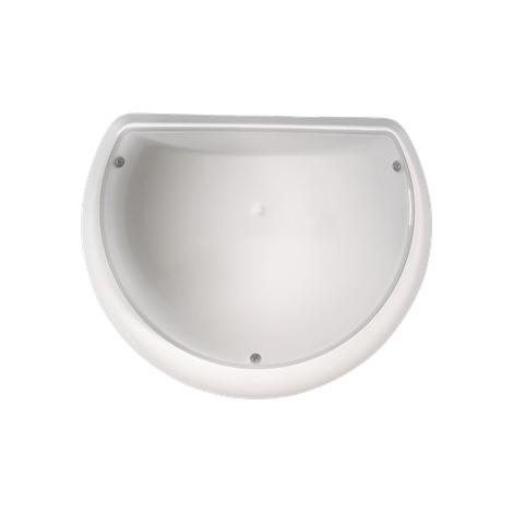 Hublot rond blanc à LED 9W (Eq. 72W) IP54 Diam. 250mm Capteur hyper fréquence