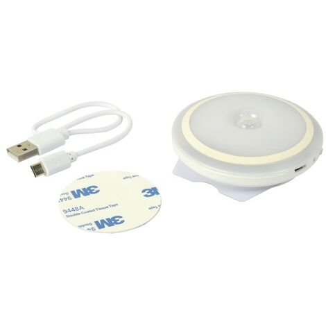 Hublot rond rechargeable - avec détecteur de mouvement 80 mm