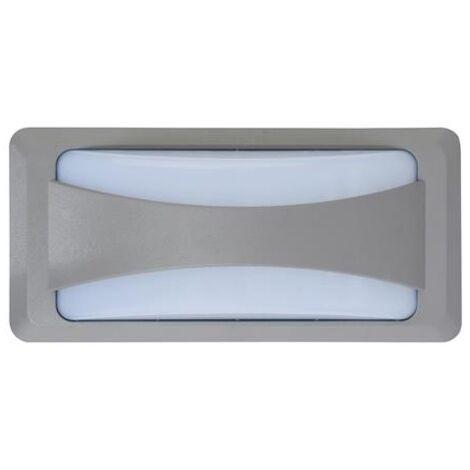 Hublot SUSAM rectangulaire gris à LED 12W (Eq. 96W) IP65 4200K Dim. 230x110x76mm