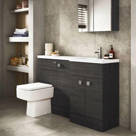 Hudson Reed 1505mm Combination Toilet & Basin Unit Hacienda Black Rh
