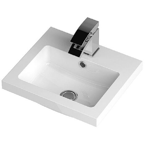 Hudson Reed 403mm x 355mm Polymarble Basin with 1 Tap Hole - PMB311