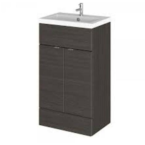Hudson Reed 505mm Floor Standing Vanity Unit & Basin Hacienda Black