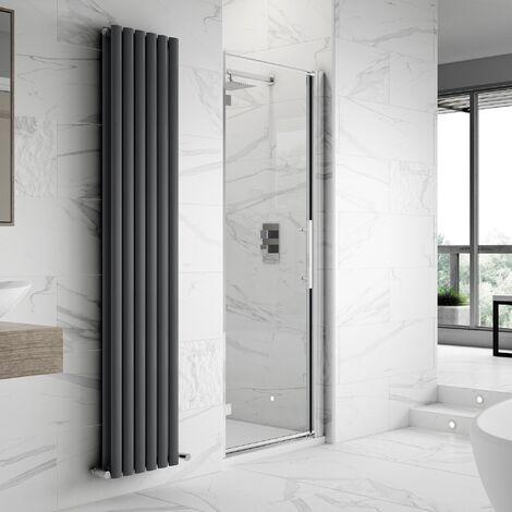 Hudson Reed Apex Hinged Shower Door 900mm Wide - 8mm Glass