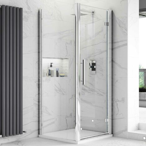 Hudson Reed Apex Hinged Shower Enclosure 900mm x 900mm with Shower Tray - 8mm Glass