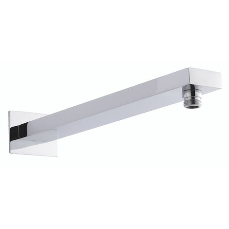 Hudson Reed ARM12 ǀ Modern Bathroom Large Rectangular Wall Mounted Shower Arm, 20mm x 50mm, Chrome
