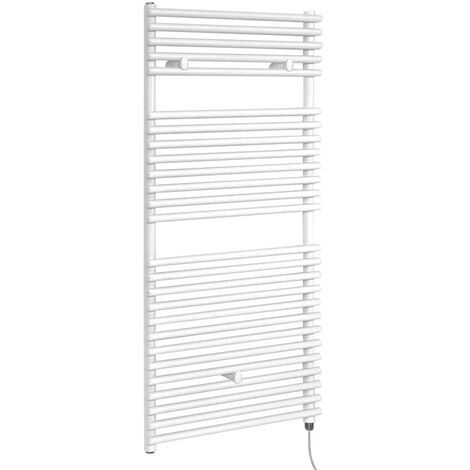 Hudson Reed Arno - Sèche-Serviettes Design Électrique Moderne - Blanc - 119 cm x 45 cm