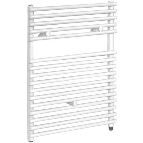 Hudson Reed Arno - Sèche-Serviettes Design Électrique Moderne - Blanc - 73 cm x 45 cm