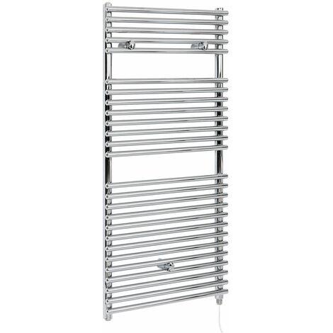 Hudson Reed Arno - Sèche-Serviettes Design Électrique Moderne - Chromé - 119 cm x 45 cm
