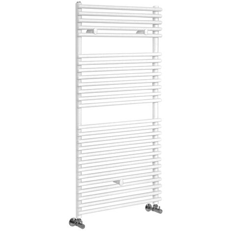 Hudson Reed Arno - Sèche-Serviettes Design Moderne - Blanc - 119 cm x 45 cm