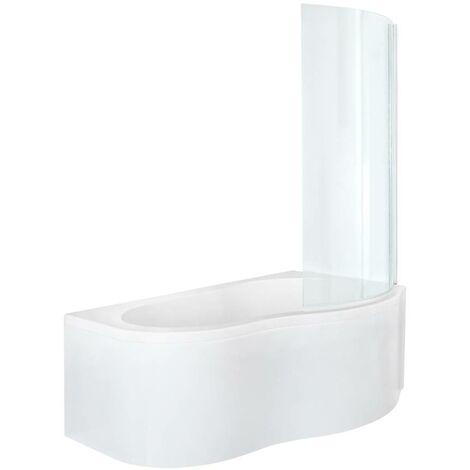 Hudson Reed Ashbury - Moderne Eckbadewanne 1500mm x 1000mm mit Verkleidung - Weiß