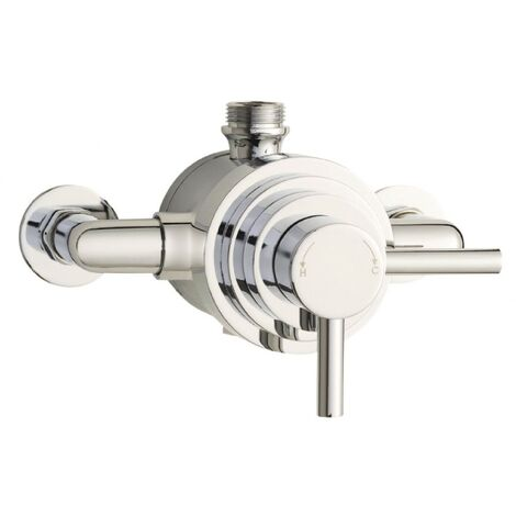Hudson Reed Aspen Chrome Dual Thermostatic Exposed Shower Valve