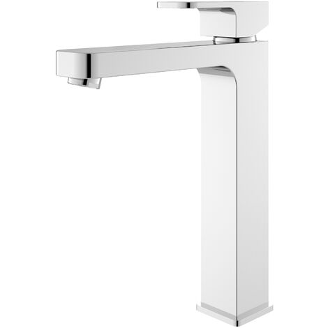Hudson Reed Astra Tall Mono Basin Mixer Tap with Waste - Chrome