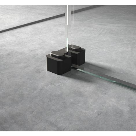 Hudson Reed Black Wetroom Screen Retainer Support Foot - WRSF007