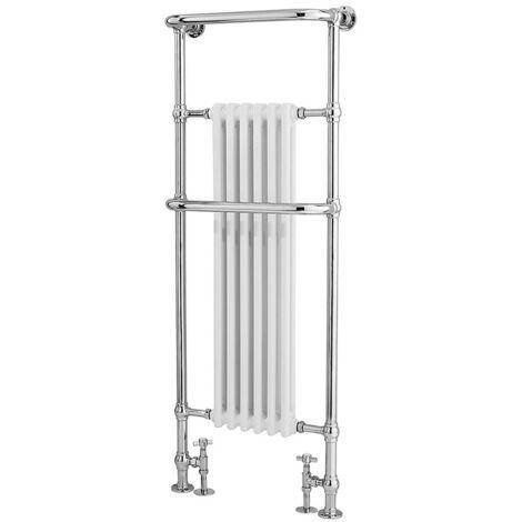 Hudson Reed Brampton White/Chrome Heated Towel Rail 575mm x 1500mm