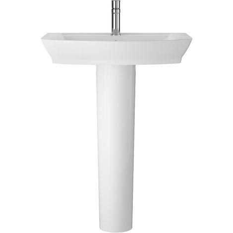 Hudson Reed CCL003 Maya   650mm Basin & Pedestal, White