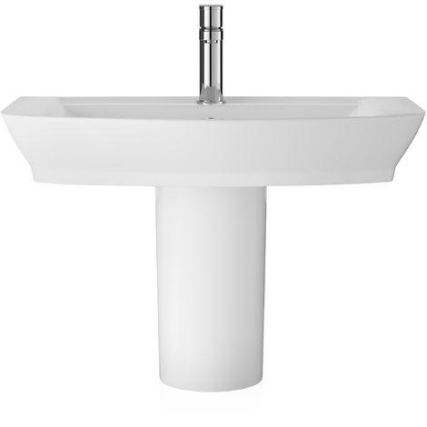 Hudson Reed CCL006 Maya   650mm Basin & Semi Pedestal, White