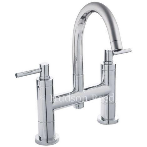 Hudson Reed Chrome Tec Lever Bath Filler - TEL353