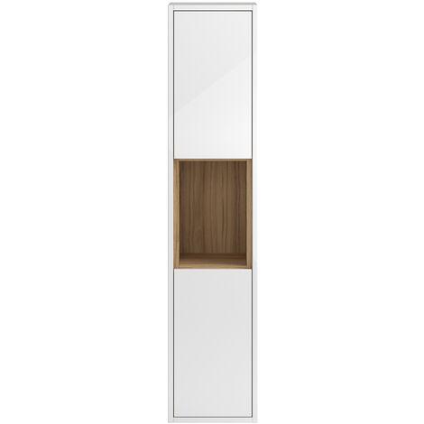 Hudson Reed Coast Tall Storage Unit, 350mm Wide, Gloss White