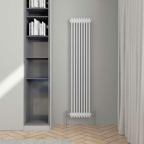 Hudson Reed Colosseum 3-Column Vertical Radiator 1800mm H x 381mm W - White