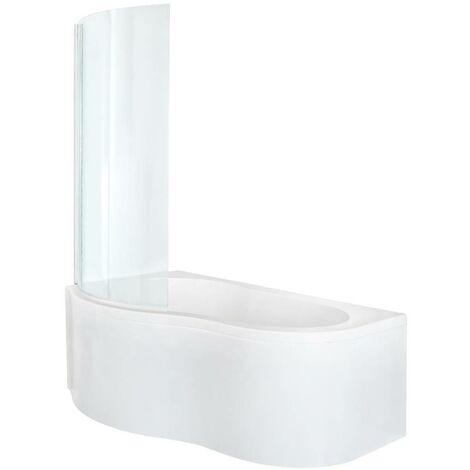 Hudson Reed Covelly - Baignoire Angle Côté Gauche ou Droit avec Tablier Blanc - 150cm x 100cm