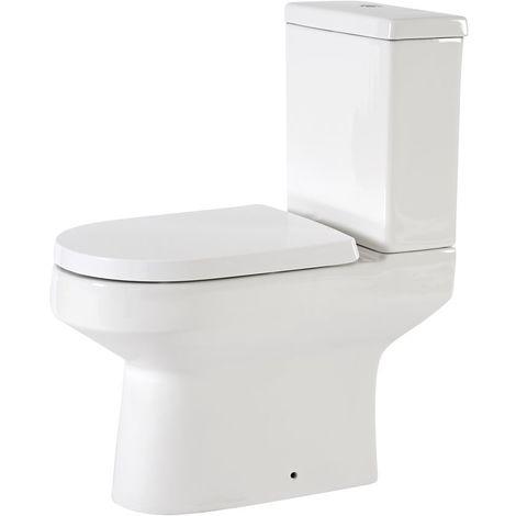 Hudson Reed Covelly - Stand WC mit aufgesetztem Spülkasten inkl. Sitz mit Absenkautomatik