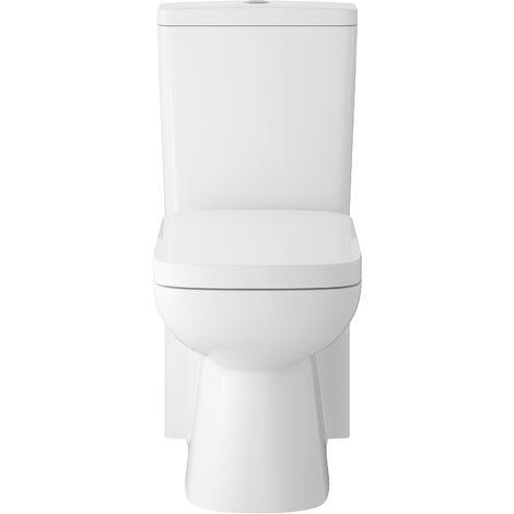 Hudson Reed CPC001 Arlo | Flush to Wall Pan, Cistern & Seat, White