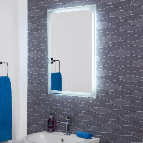Hudson Reed Dazzle LED Bathroom Mirror With Demister Rectangular IP44 700x500mm