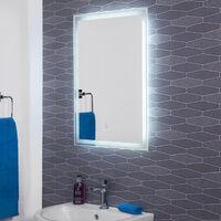 Hudson Reed Dazzle LED Bathroom Mirror With Demister Rectangular IP44 700x500mm