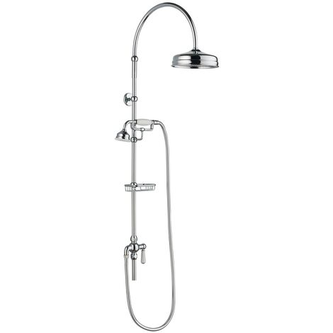 Hudson Reed Deluxe Grand Rigid Riser Kit with Handset and Shower Head