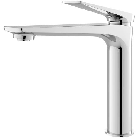 Hudson Reed Drift Tall Mono Basin Mixer Tap with Waste - Chrome