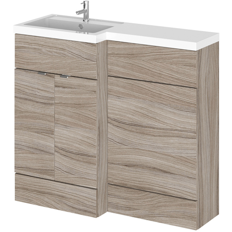 Hudson Reed Driftwood 1000mm Full Depth Combination Vanity & Toilet Unit with Left Hand Basin - CBI229