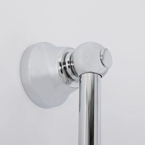 Idro Bric BLISAL0052CR Saliscendi Ninfea 2 Funzioni Cromato con Portasapone Trasparente Asta 72 cm