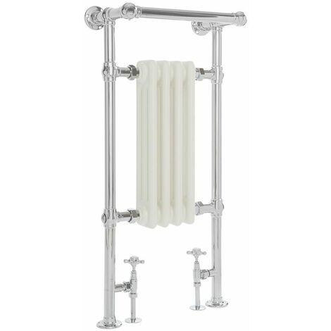 Hudson Reed Elizabeth - Sèche-Serviettes Rétro - Blanc - 437 Watts - 93 x 45,2 x 23cm