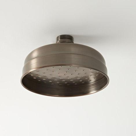 Hudson Reed Elizabeth - Traditioneller 155mm runder Duschkopf mit Regenfall-Effekt - Geölte Bronze