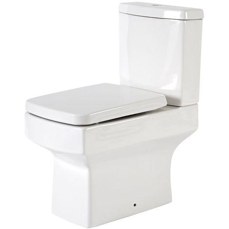 Hudson Reed Exton - Stand WC mit aufgesetztem Spülkasten inkl. Sitz mit Absenkautomatik