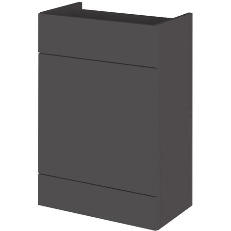Hudson Reed Fitted WC Unit 600mm Wide - Gloss Grey