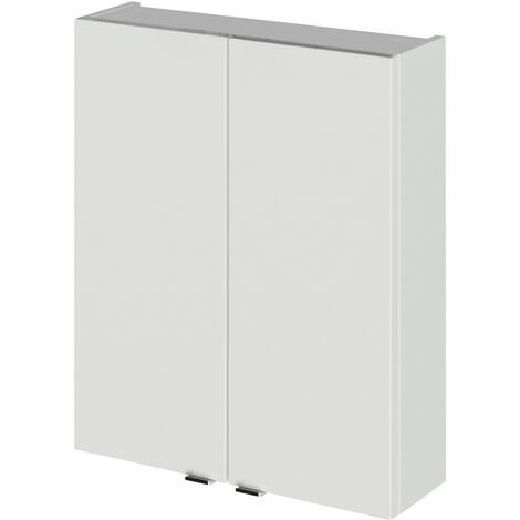 Hudson Reed Fusion Bathroom Cabinet 500mm Wide - Gloss Grey Mist