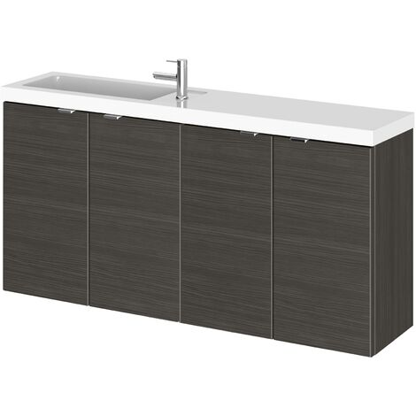 Hudson Reed Fusion Compact Combination Unit with 250mm Base Unit - 1000mm Wide - Hacienda Black