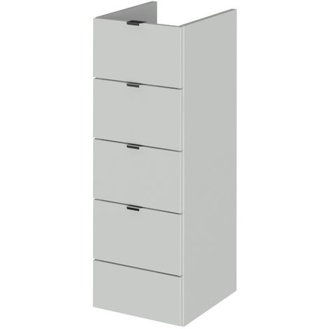 Hudson Reed Fusion Drawer Unit 300mm Wide - Gloss Grey Mist