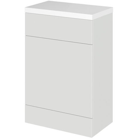 Hudson Reed Fusion WC Unit With Marble Top 600mm Wide - Gloss Grey Mist