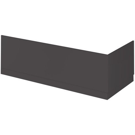 Hudson Reed Gloss Grey 1700mm Bath Front Panel with Plinth - OFF977