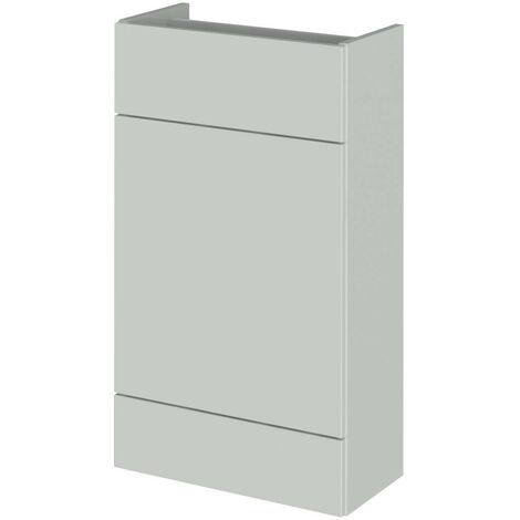 Hudson Reed Gloss Grey Mist 500mm Slimline Toilet Unit - OFG445