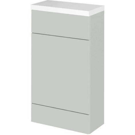 Hudson Reed Gloss Grey Mist 500mm Slimline Toilet Unit with Polymarble Top - CBI404