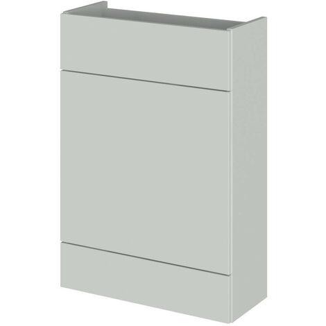 Hudson Reed Gloss Grey Mist 600mm Slimline Toilet Unit - OFG447