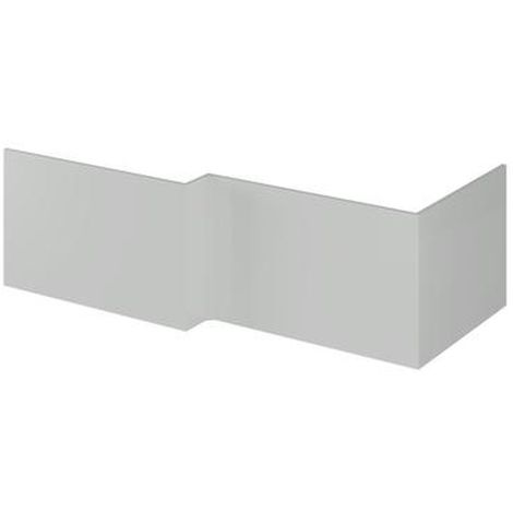 Hudson Reed Gloss Grey Mist 700mm Square Shower Bath End Panel - OFG479