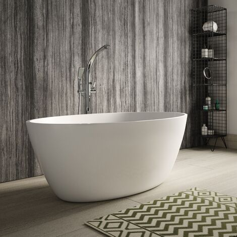 Hudson Reed Grace Freestanding Bath 1500mm x 760mm - White