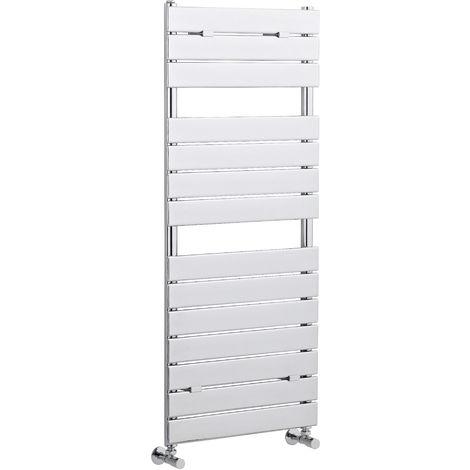 Hudson Reed HL335 | Modern Bathroom Flat Vertical Wall Hung Heated Towel Rail , 1213mm x 500mm , Chrome