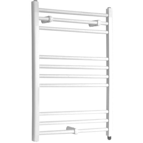 Hudson Reed Ive - Sèche-Serviettes Design Électrique Moderne Plat - Blanc - 80 cm x 60 cm