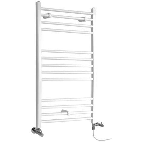 Hudson Reed Ive - Sèche-Serviettes Design Mixte Moderne Plat - Blanc - 100 cm x 60 cm