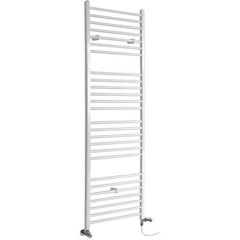 Hudson Reed Ive - Sèche-Serviettes Design Mixte Moderne Plat - Blanc - 180 cm x 60 cm